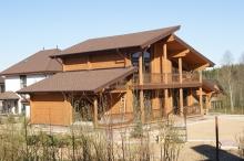Построенные дома из бруса