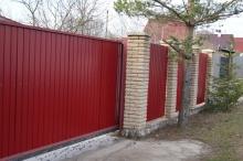 Примеры работ по строительству заборов
