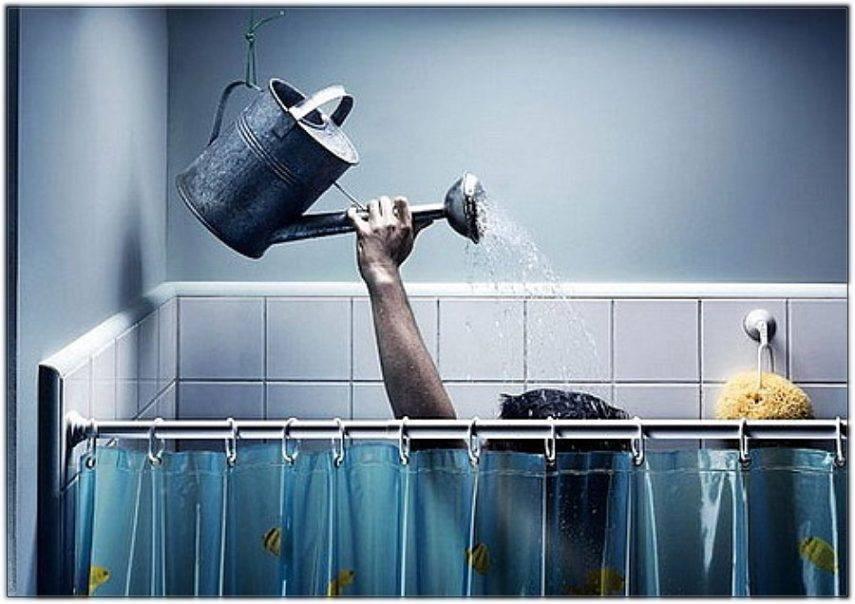 мытье при отключенной воде