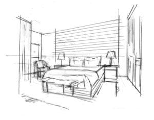 Рисунок спальни мечты
