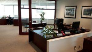 новый офис отремонтированный подрядчиком