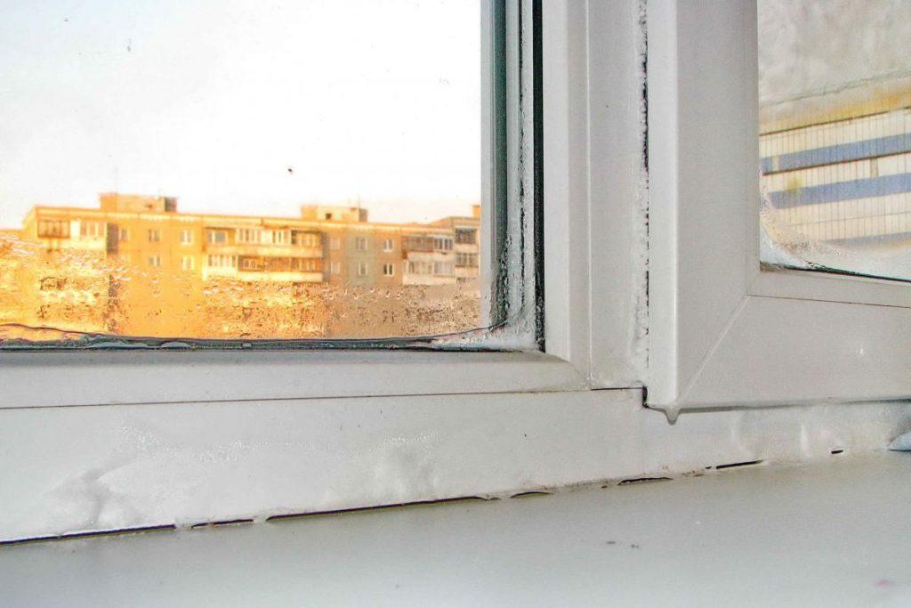 старые замерзшие окна